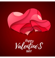 3d origami Valentines heart Valentines day vector image