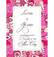 Colorful wedding invitation with torn paper banner vector image