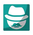 mustache icon image vector image