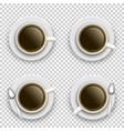 set coffee cup above vector image vector image