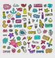 patch collection vector image