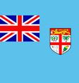 Flag of fiji vector image