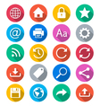 Web flat color icons vector image vector image