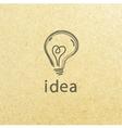 Lightbulb paper Creative idea symbol concept EPS vector image