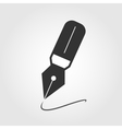 Fountain pen icon flat design vector image vector image