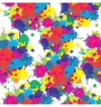 Indian festival seamless pattern colors splash vector image