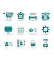 business and website icons vector image