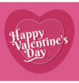 Happy Valentines greeting card template vector image