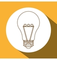 light bulb icon design vector image