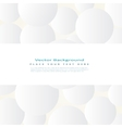Background with simple white circles vector image