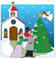 church carolers vector image