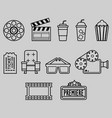 cinema watching outline icon vector image