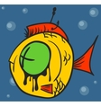 Dead Fish Graffiti vector image