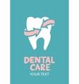 Dental care design concept vector image