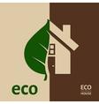 Eco House EPS 10 vector image