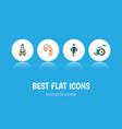 flat icon cripple set of audiology equipment vector image
