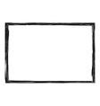 Grunge distressed rough frame or border vector image