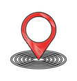 location pointer isolated icon vector image