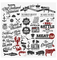 Restaurant emblems vector image
