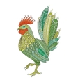 Rooster domestic farmer bird for Coloring pages vector image