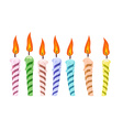 set birthday candles vector image