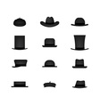 Set of hat vector image