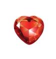 Shiny Valentines Diamond Hearts vector image