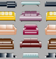 sofa set pattern vector image