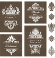 Victorian Styled Templates vector image vector image