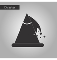 black and white style icon snow avalanche vector image