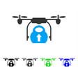 Load cargo drone flat icon vector image