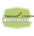 A natural label with a carrot vector image