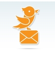 Bird carrying a letter vector image