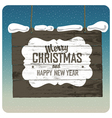 Christmas wooden signboard vector image