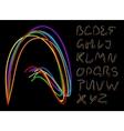 optical fiber alphabet vector image vector image
