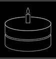 cake with candle the white path icon vector image