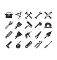 construction and engineering tools silhouette vector image