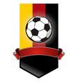 Germany Soccer Championship banner vector image