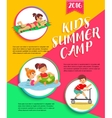 Kids summer camp poster Children playing vector image