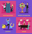 people in casino square concept vector image