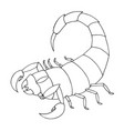 scorpion coloring book outline vector image
