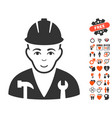 serviceman icon with dating bonus vector image