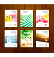 Set of trendy geometric business brochure cover vector image