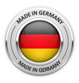 Silver medal Made in Germany with flag vector image