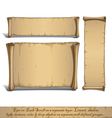 Three Cartoon Scrolls Standing Vertically vector image