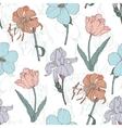 Vintage Flowers Pastel Seamless Pattern vector image