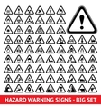 Triangular Warning Hazard Symbols Big set vector image