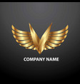 Logo v angel vector image