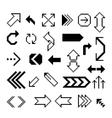 Set of pixel arrow symbol vector image