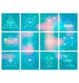 Futuristic Geometric Hipster Elements and Logos vector image